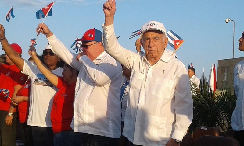 Machado Ventura en la celebración del 1 de mayo en Santiago de Cuba