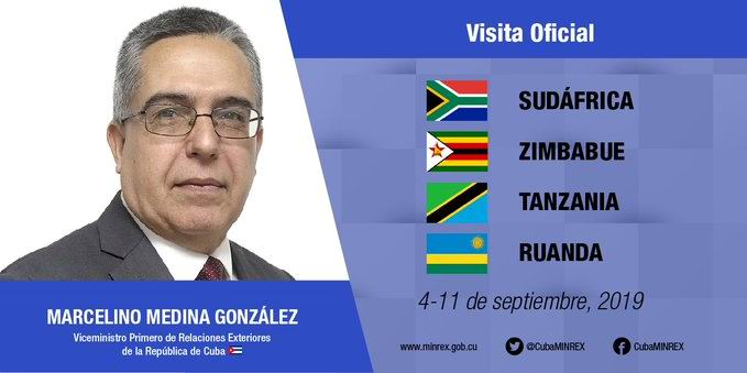 Cuban First Deputy Foreign Minister starts working visit to Africa