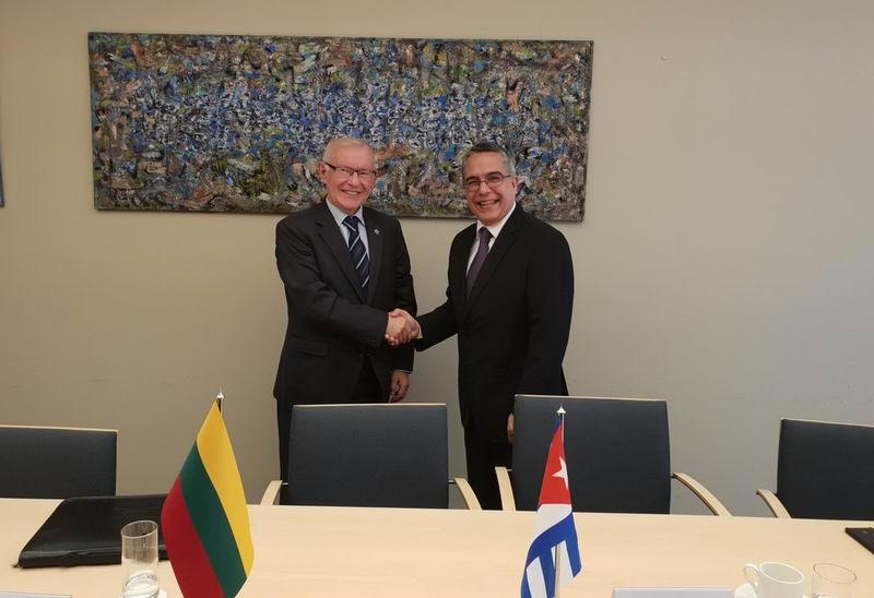 Agradece Cuba a Lituania apoyo en lucha contra bloqueo de EEUU