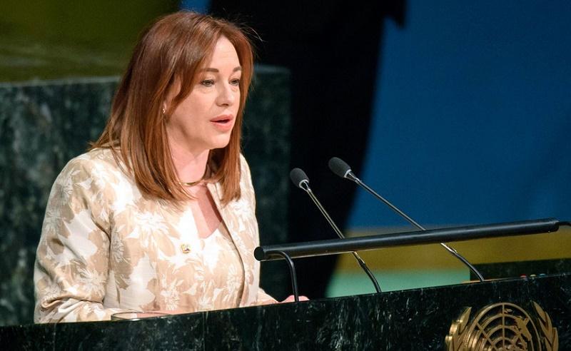 Llegó a Cuba presidenta de Asamblea General de la ONU