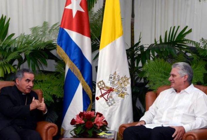 Recibió Díaz-Canel al Prefecto de la Congregación para las Causas de los Santos de la Santa Sede