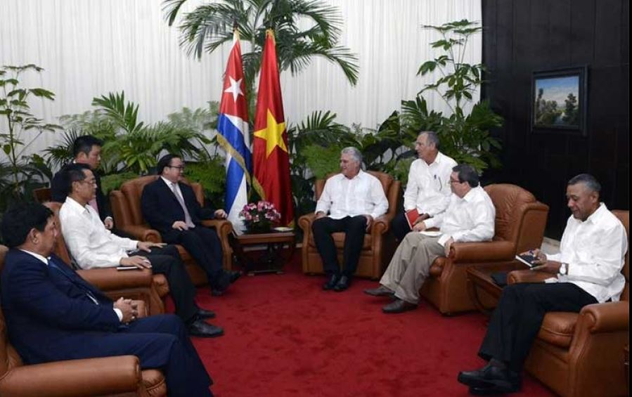 Diaz-Canel receives senior leader of the Vietnamese Communist Party
