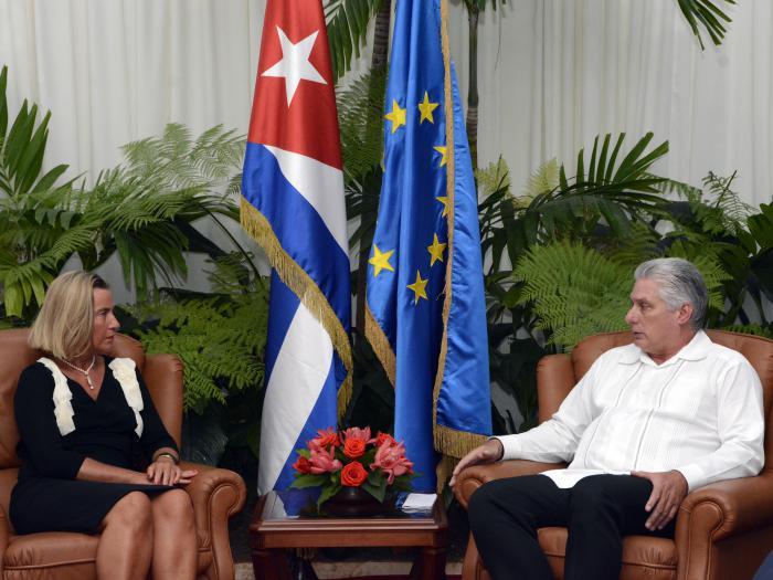 Recibió Presidente Miguel Díaz-Canel a la Excma. Sra. Federica Mogherini
