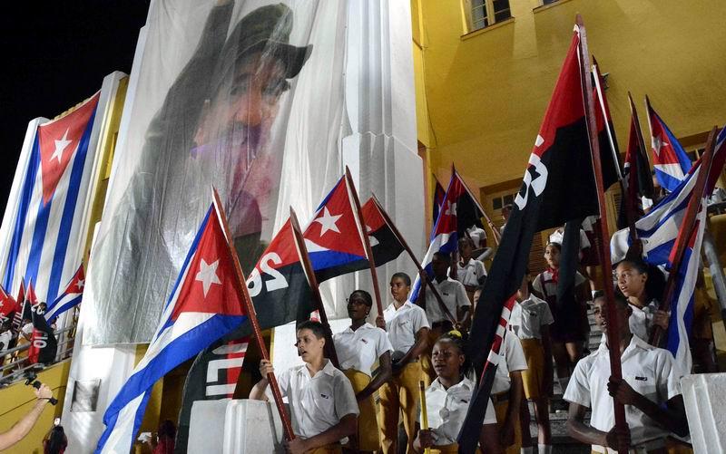 Pioneros destacados de la provincia de Santiago de Cuba realizaron el Asalto Simbólico al antiguo Cuartel Moncada, en ocasión del aniversario 66 de aquella gesta organizada y dirigida por Fidel Castro Ruz el 26 de julio de 1953. Santiago de Cuba, 26 de julio de 2019. ACN FOTO/Miguel RUBIERA