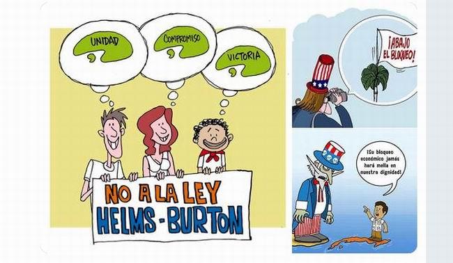 Sindicalistas cubanos contra la Ley Helms-Burton