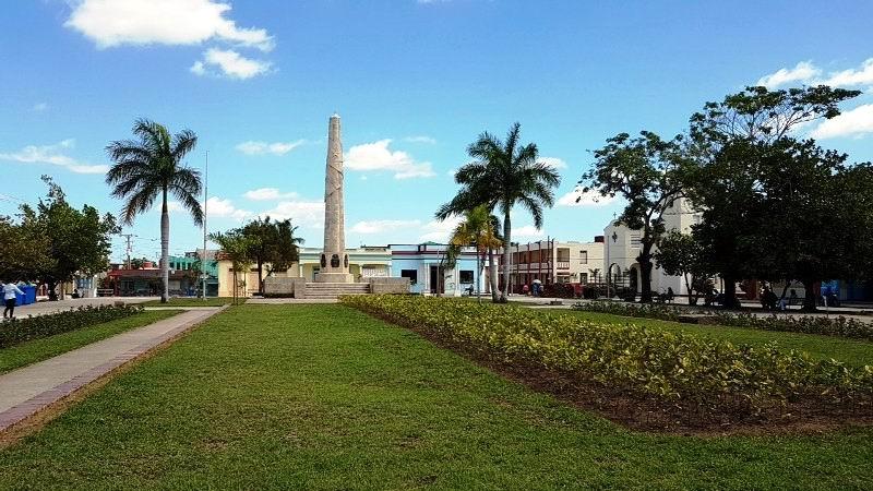 Parque Constitución donde se reunieron los patriotas el 10 de abril de 1869.
