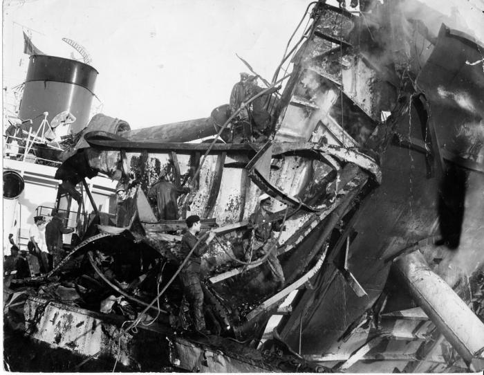 La explosión del vapor francés La Coubre constituyó el atentado terrorista más horrendo perpetrado hasta ese momento por la CIA