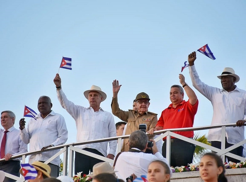 Raul Castro and Miguel Diaz-Canel Preside Over May Day Parade