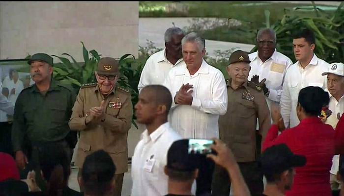 Raul Castro, Diaz-Canel in Act for Cuban Rebellion Day