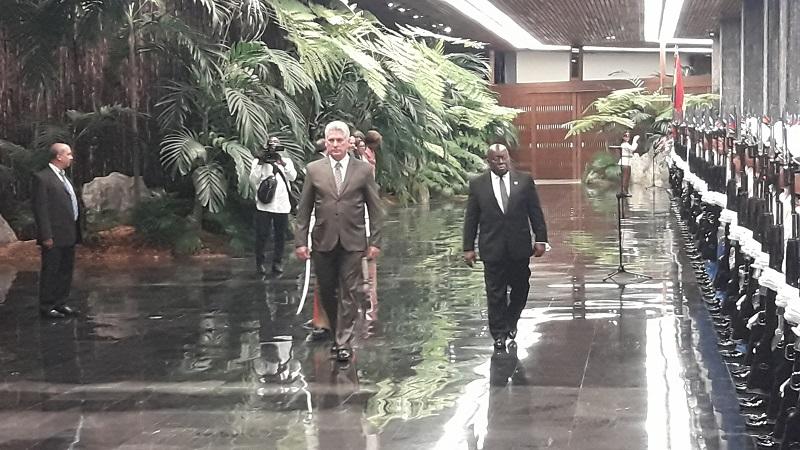 Recibe Díaz-Canel a Presidente de la República de Ghana