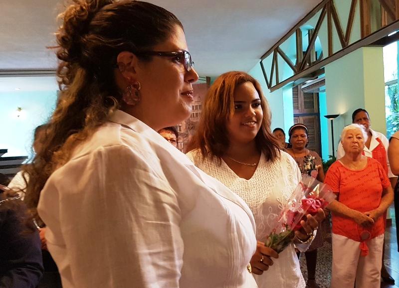 La joven Melisa Delgado Morales, reconocida por el Secretariado provincial de la FMC