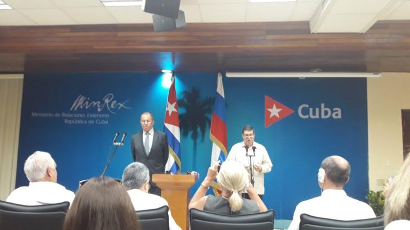 Canciller ruso reafirma el apoyo de su país a la Mayor de las Antillas