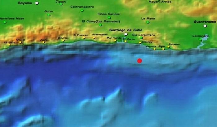 Sismo perceptible en Santiago de Cuba