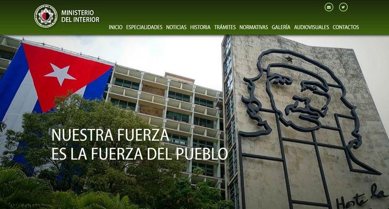 Activan sitio web del Ministerio del Interior