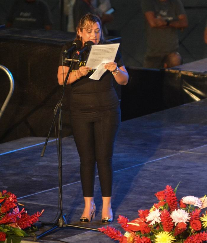 Miembro del Comité Central del Partido, del Consejo de Estado y Primera Secretaria del Comité Nacional de la UJC, Susely Morfa