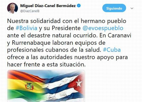 Envía Maduro ayuda humanitaria ¡a Cuba!