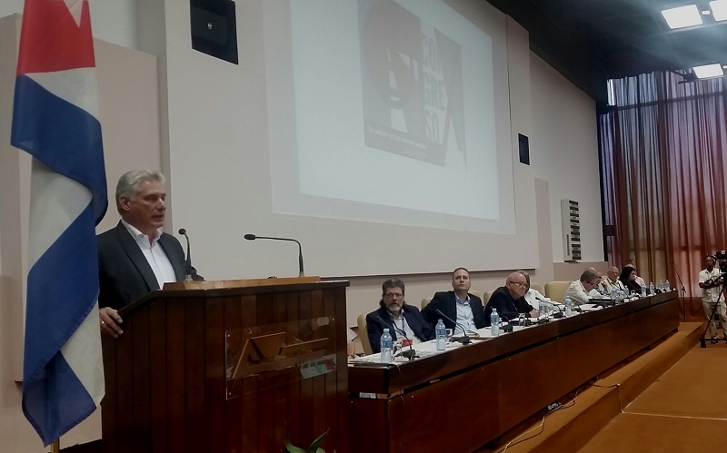 Cuban President Díaz-Canel participated in 9th Congress of UNEAC