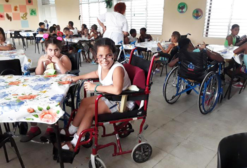 Cuba: new school for physically handicapped children opens