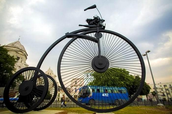 Contra viento y marea, nueva escultura en La Habana
