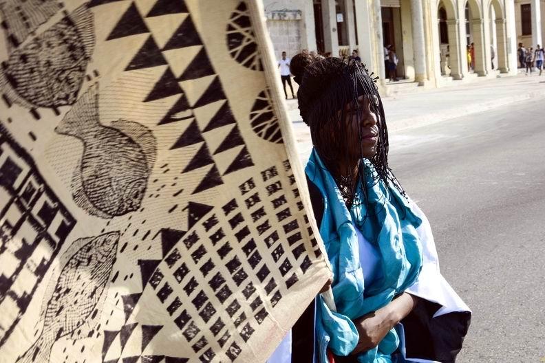 Una de las obras presentadas, durante la inauguración del proyecto Detrás del Muro (Dedelmu), que acoge la XIII Bienal de La Habana, en Cuba, el 14 de abril de 2019. ACN FOTO/Ariel LEY ROYERO