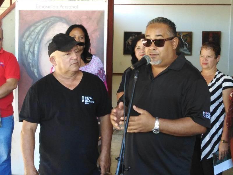 Nelson Domínguez encabezó la Pintata dedicada a Fidel Castro e inauguró la Expo Mi amiga Alicia
