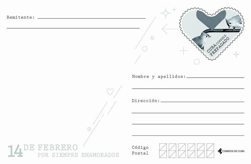 Tarjetas postales por el 14 de febrero