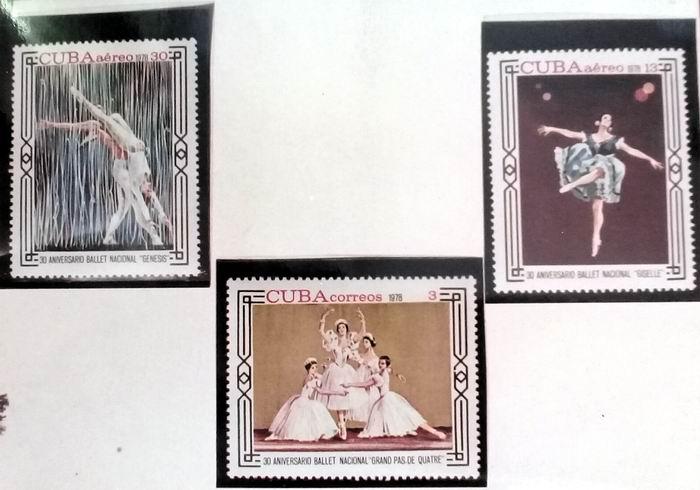 Sellos XXX aniversario del Ballet Nacional de Cuba