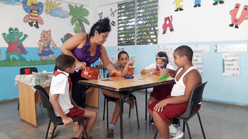 Día Mundial de Concienciación sobre el Autismo. Escuela Dora Alonso. Foto: Mirtha Guerra