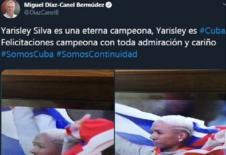 President Diaz-Canel Congratulates Cuban Gold Medalists