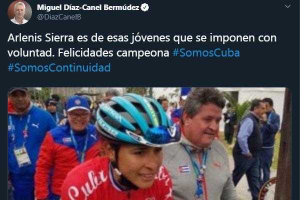 President Díaz-Canel Congratulates Cuban champions in Lima 2019