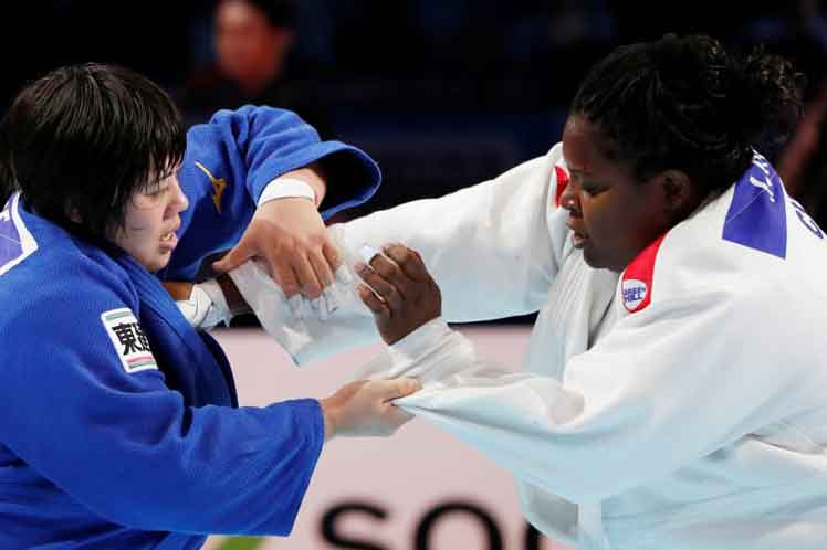 Cuban judoka Idalis Ortiz won the silver medal after losing the final combat to Japan´s Akira Sone