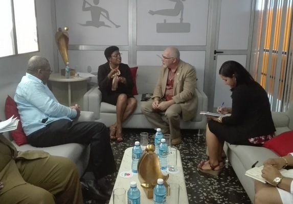 Cuban and Namibian officials talk sports cooperation