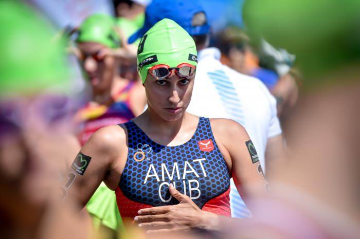 Cubana Leslie Amat finaliza cuarta en triatlón de Playa Hermosa