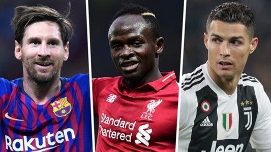 Nominados al premio de mejor delantero están Messi, Cristiano Ronaldo y Mané