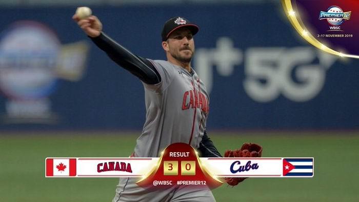 Cuba cae por lechada ante Canadá, en el Torneo Premier 12 de béisbol
