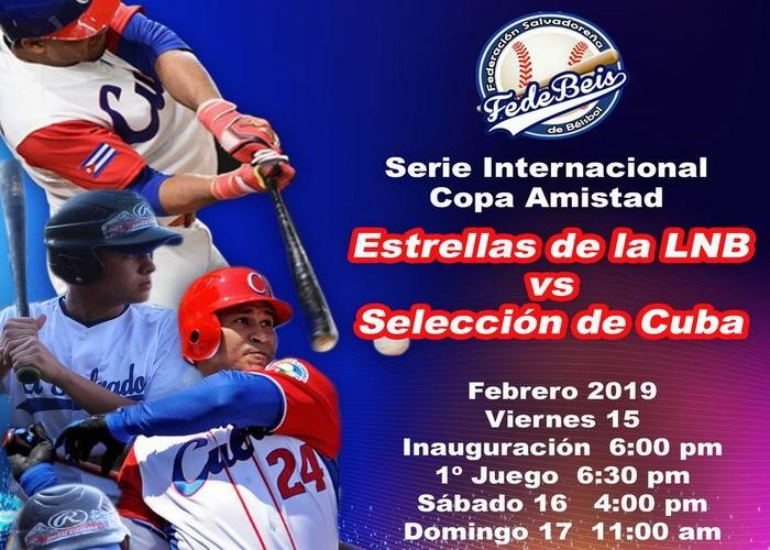 Celebrarán Serie Amistosa de béisbol Cuba-El Salvador