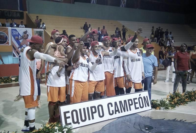 Villa Clara campeón de la Liga Superior de Baloncesto (M)