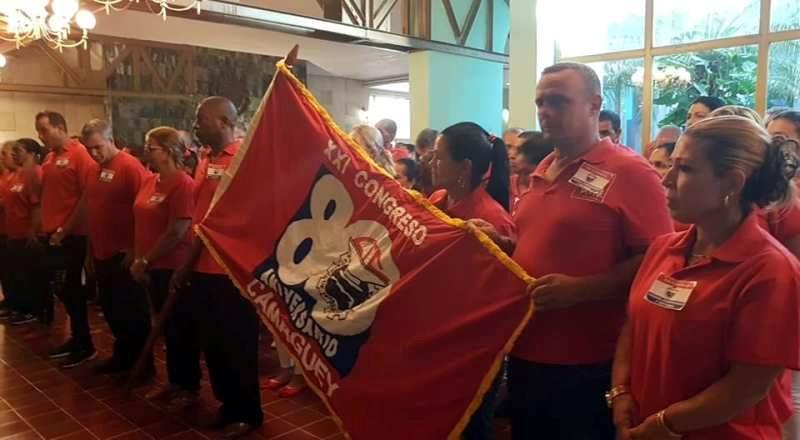 Por esa bandera, delegación Camagüey al XXI Congreso de la CTC, ratifica compromisos productivos