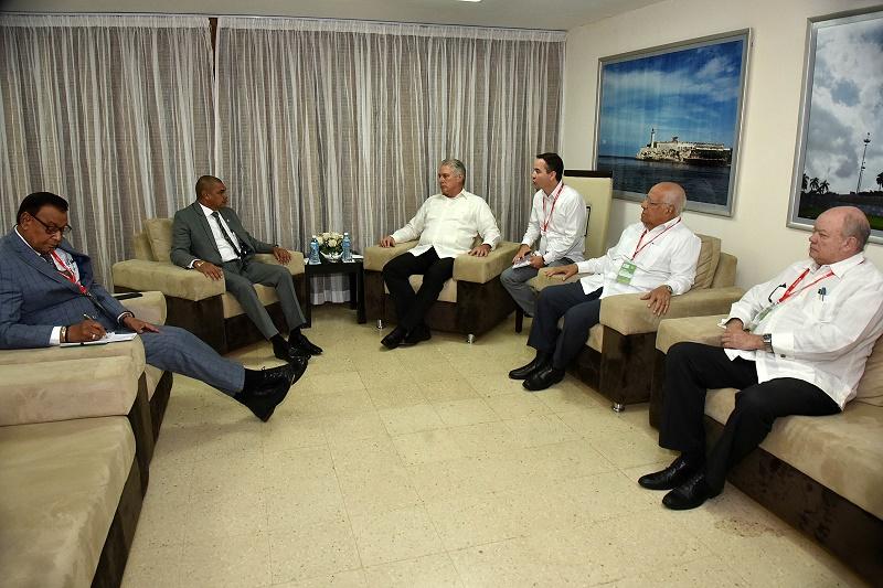 Díaz-Canel se entrevistó con varias autoridades que asisten a FIHAV 2019