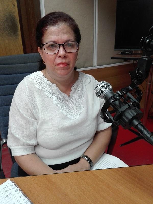 La Directora General de Atención Territorial del Ministerio de Finanzas y Precios Loida Obregón González