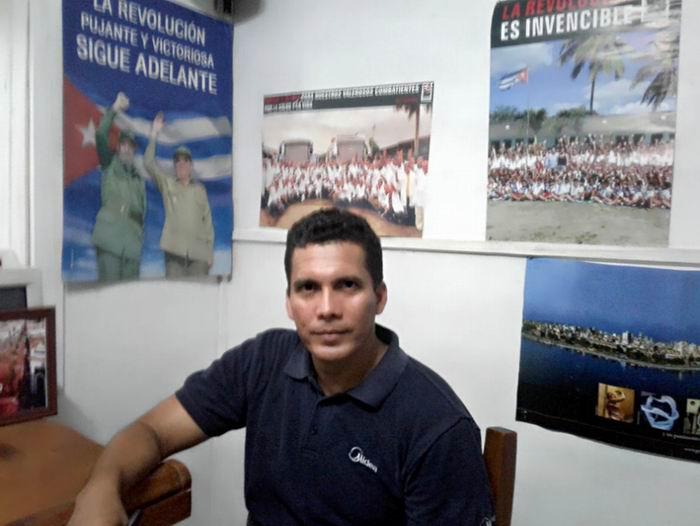 Vicepresidente Primero del Grupo Empresarial de la Industria Química, Leonardo Arevich Tamayo.