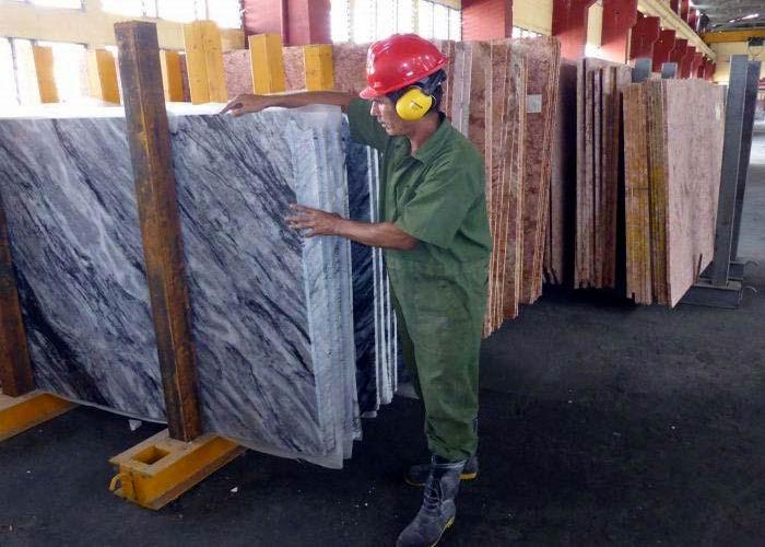 Industria cubana de mármol reinicia producciones exportables