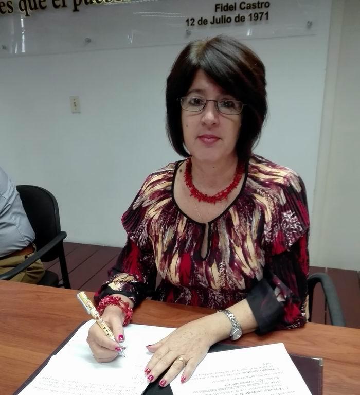 Viceministra Primera del Ministerio del Trabajo y Seguridad Social, Marta Elena Feitó Cabrera