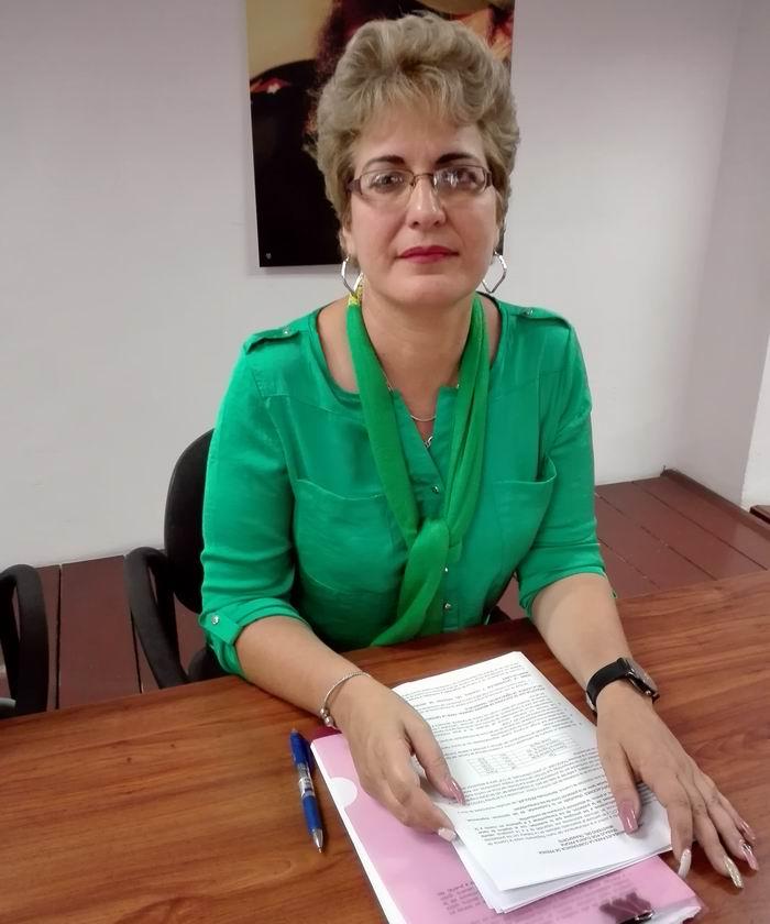 Viceministra Primera del Ministerio del Transporte Marta Oramos Rivero