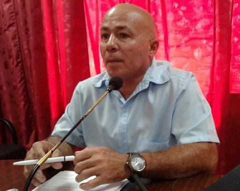 El Director Técnico productivo de la Empresa Eléctrica tunera René Rocío Pupo