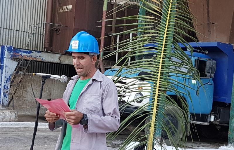 Secretario General del Sindicato en el ingenio Siboney, Gelvys Garriga