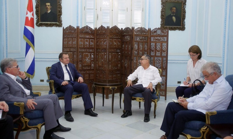 Cuban acting FM receives senior official of Eurasian Economic Commission