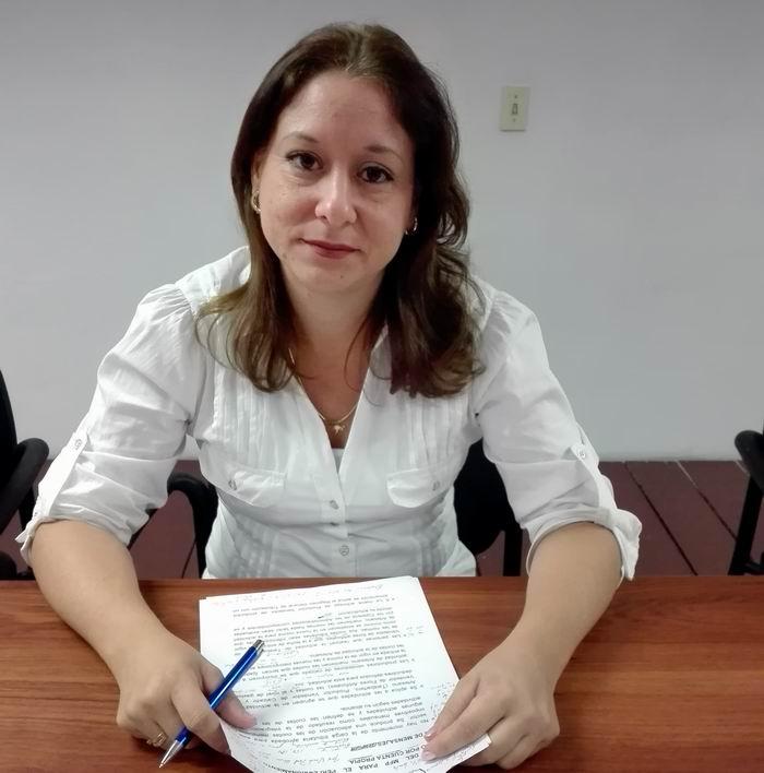 Directora de Política de Ingresos del Ministerio de Finanzas y Precios Yahily García Poma