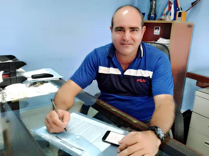 Delegado Provincial del Instituto Nacional de Recursos Hidráulicos, Yosvany Rubí Bazail