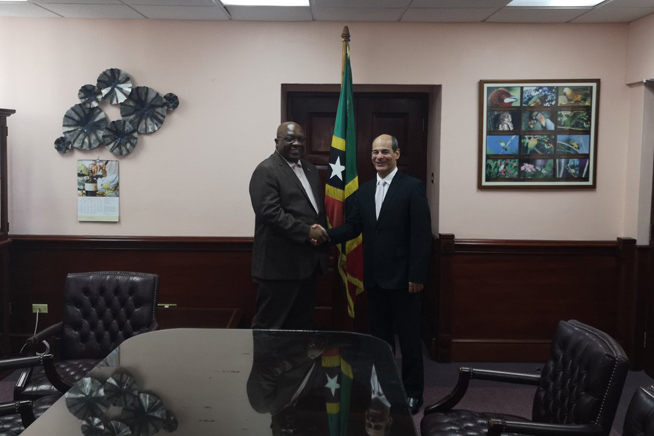 St. Kitts and Nevis PM receives Cuban deputy FM